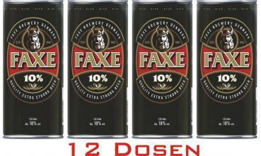 FAXE EXTRA STRONG BEER ... 12x 1 Ltr.